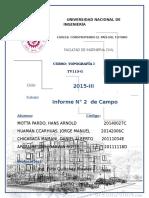 INFORME TOPOGRAFIA CURVAS DE NIVEL UNI