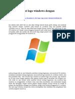 Cara Membuat Logo Windows Dengan Coreldraw x4