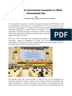 A Report on The International Convention on World Homoeopathy Day