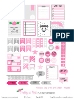 Pretty in Pink Planner Stickers VintageGlamStudio