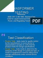Transformer Testing ppt | Transformer | Electrical Impedance