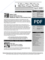 Milo Baker Chapter Newsletter, April 2005 ~ California Native Plant Society