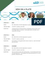 Kew on a Plate - Extras Summary