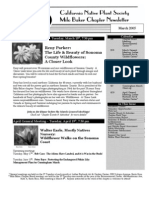 Milo Baker Chapter Newsletter, March 2005 ~ California Native Plant Society