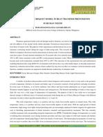 FUZZY MEASURE-CHOQUET MODEL IN HEAT TRANSFER PHENOMENON IN HUMAN TEETH