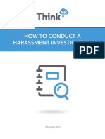 How to Conduct Harassment Investigation