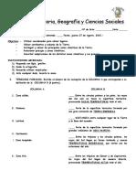 5 Prueba Historia 3° - 2015 - - copia