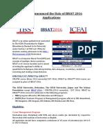 IBSAT 2016 Notification