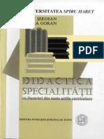Laura Goran,Ioan Serdean - Didactica Specialitatii