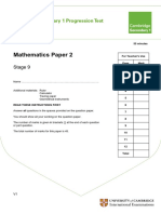 Secondary Progression Test - Stage 9 Math Paper 2