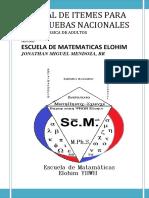 Manual de Itemes Para Las Pruebas Nacionales