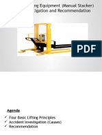 Case Study Manual Stacker Accident
