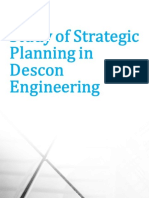 Study of Strategic Planning in Descon Engineering