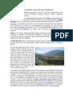 Generalidades Sobre El Valle Del Colca