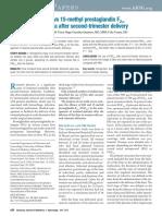 Rectal misoprostol vs 15-methyl prostaglandin F2