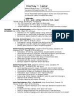 c  keener resume