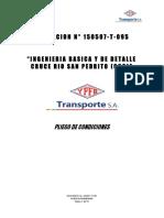 007 Pliego 150507-T-095 Ingenieria Basica y de Detalle San Pedrito