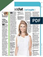 """Newsday """"Fast Chat"""" - Lori Loughlin"""