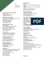 Addresses List of Engrs