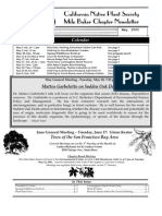 Milo Baker Chapter Newsletter, May 2003 ~ California Native Plant Society