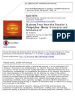 BusinBusiness travel from the traveller's point of viewss Travel From the Traveller's