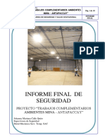 Informe final de seguridad