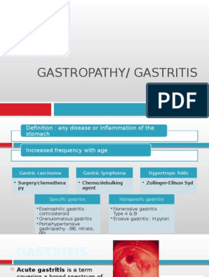 Gastritis Pptx Peptic Ulcer Stomach