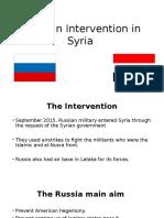 Russia Intervention in Syria