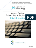 Patient Sched Reg Manual Cerner