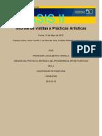 Informe de vistitas a Prácticas Artísticas 18-05-10