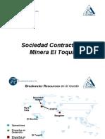 09.- Operaciones y Proyectos de Minera El Toqui Copia