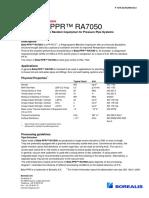 Technical Datasheet Beta-PPR RA7050