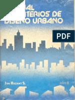 Manual de Criterios de Diseño Urbano Jan Bazant s