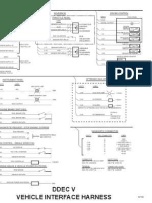 Diagrama de Cabina OEM DDEC V | Turbocharger | Electrical ... on