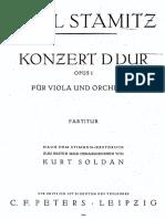 Stamitz Viola Concerto Full Score