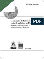 Cepal 2008 Sociedad de La Informacion
