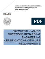 PELSG FAQ's Engineering Certification