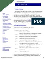 Aluminum Welding Procedures