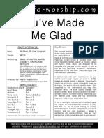 You've made me glad