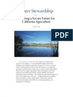 Water Stewardship - Ensuring a Secure Future for California Agriculture