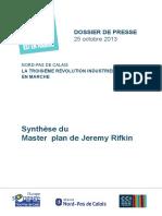 Dossier de Presse La Troisième Révolution Industrielle 25octobre 2013