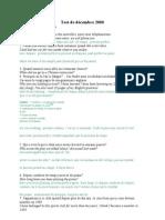 Langue Anglaise I ; Traductions Examens 2000-2009