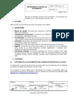 Pro01_gc_v01 Control de Documentos