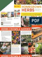 Homegrown Herb Brochure