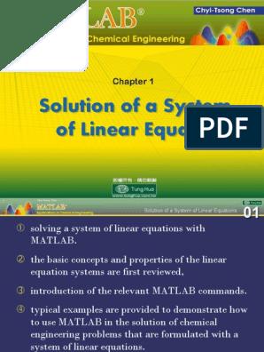 matlab applications in chem pdf | Heat Transfer | Distillation