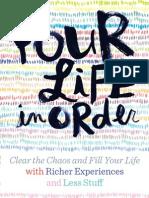 Your Life, In Order Brochure