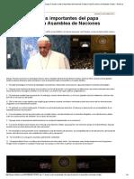 Las 11 Frases Más Importantes Del Papa Francisco Ante La Asamblea de Naciones Unidas _ Papa Francisco en Estados Unidos - América