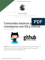 Comandos Básicos Para Manejarse Con Git y GitHub