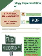 Strategy Implementation & Control - Unit 5