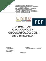 Ensayo Aspectos Geologicos y Geomorfologicos de Venezuela Eulises Gutiérrez